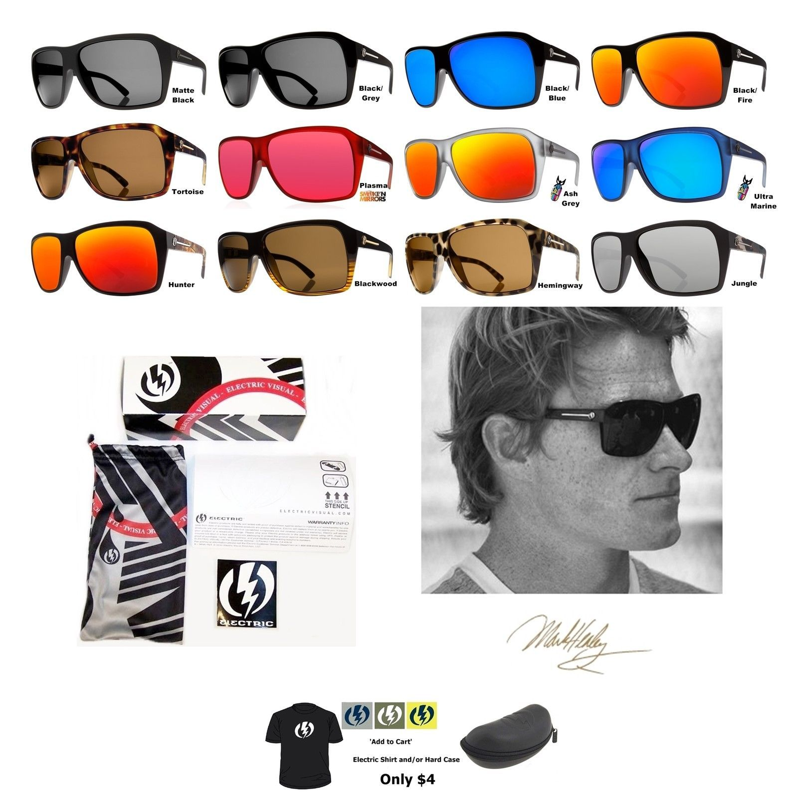 215c385f69 NEW Electric Visual Capt Ahab Mens Mark Healey Pro Sunglasses Msrp ...
