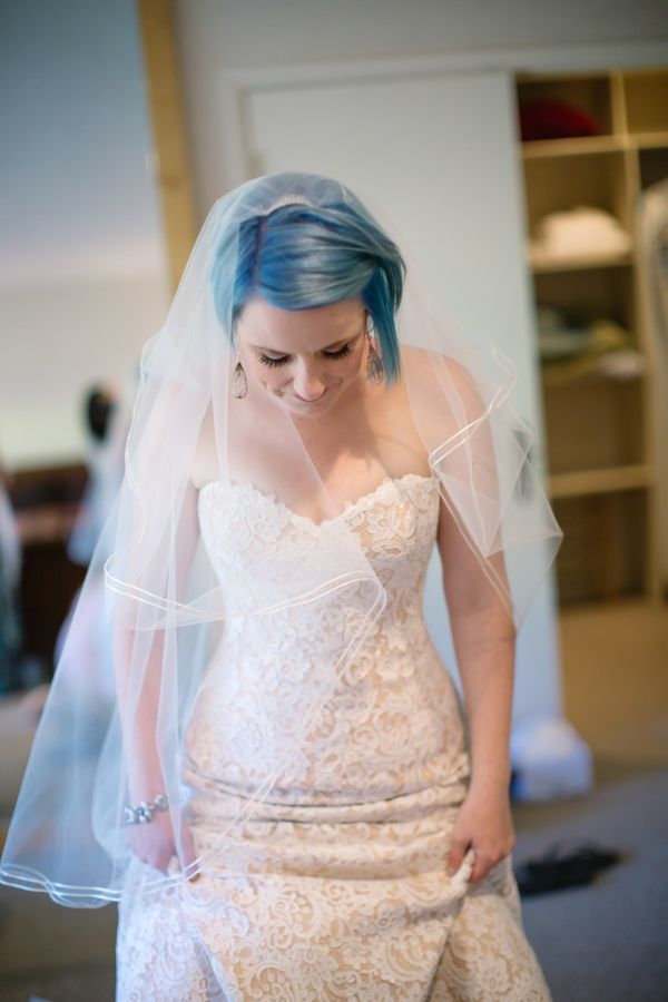 Bringing You The Sweetness With A Blue Haired Bride And A Dessert