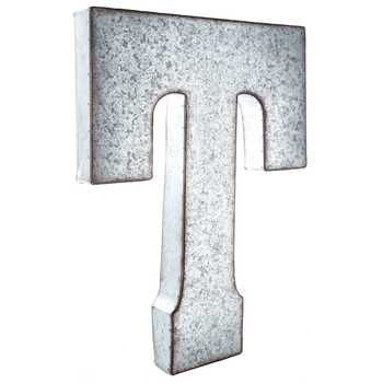 Galvanized Metal Letter Wall Decor T Hobby Lobby 906099