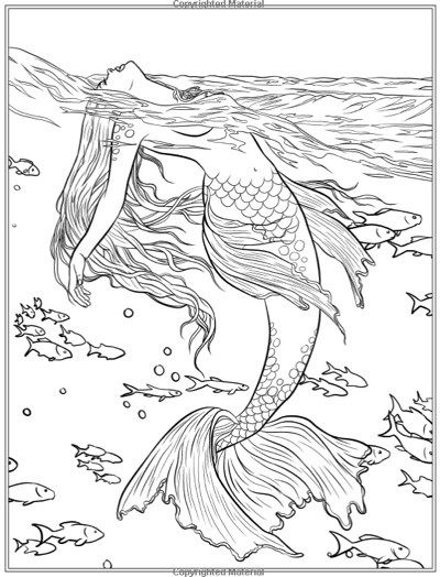printable fantasy creatures coloring pages | Best Mermaid Coloring Pages & Coloring Books | Mermaid ...
