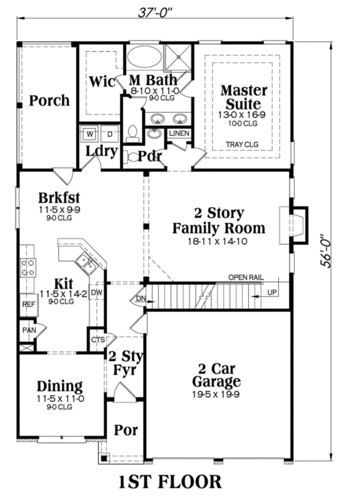 House Plan 00900017 Craftsman Plan 2,339 Square Feet