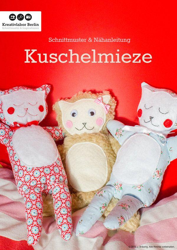 Schnittmuster & Nähanleitung Kuschelmieze | Nähanleitung, Kostenlos ...
