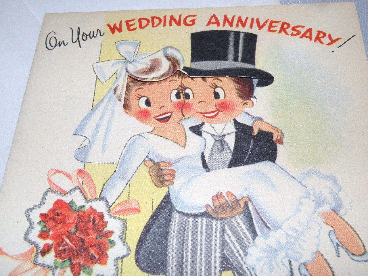 1940s wedding anniversary card unused with envelope