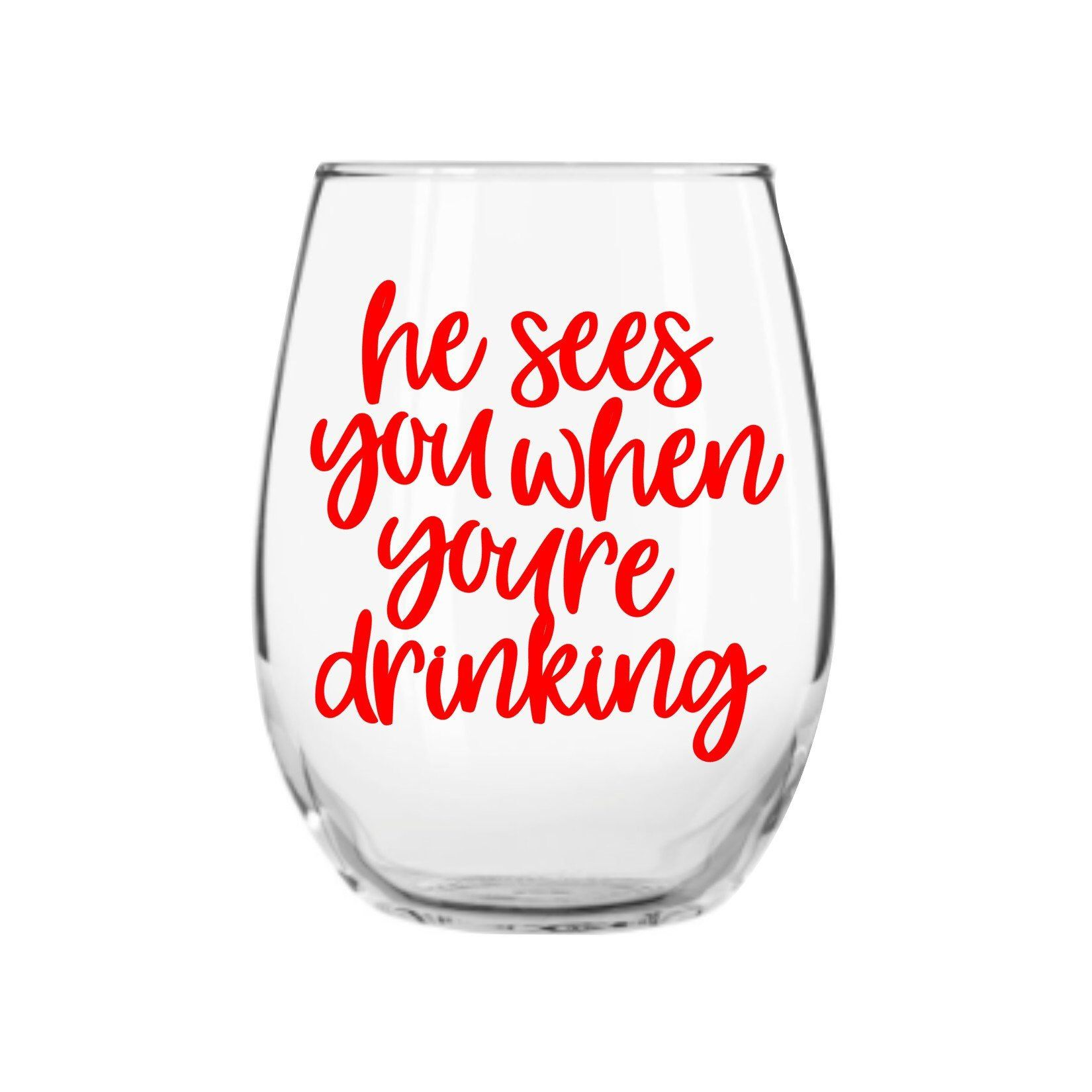 Christmas Wine Glass Funny Wine Glass Holiday Wine Glasses Secret Santa Gift By Yougotpersonalgifts On Et Funny Wine Glass Holiday Wine Glasses Holiday Wine