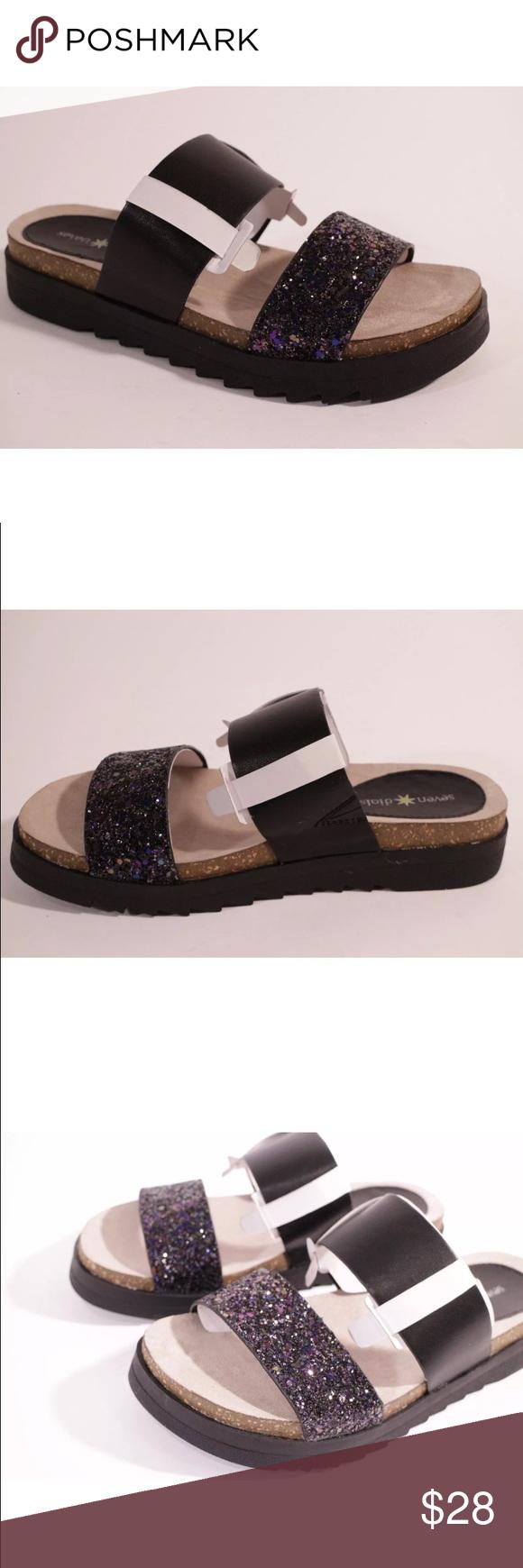 Brand new seven dials sparkly slide sandals Seven dials brand new slide sandals. Seven Dials Shoes Sandals