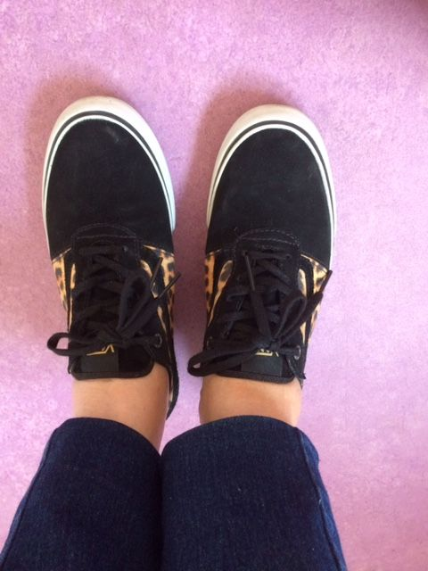 Loving these Vans, trainers with a touch of leopard, they seem to go with everything and are the perfect casual footwear.