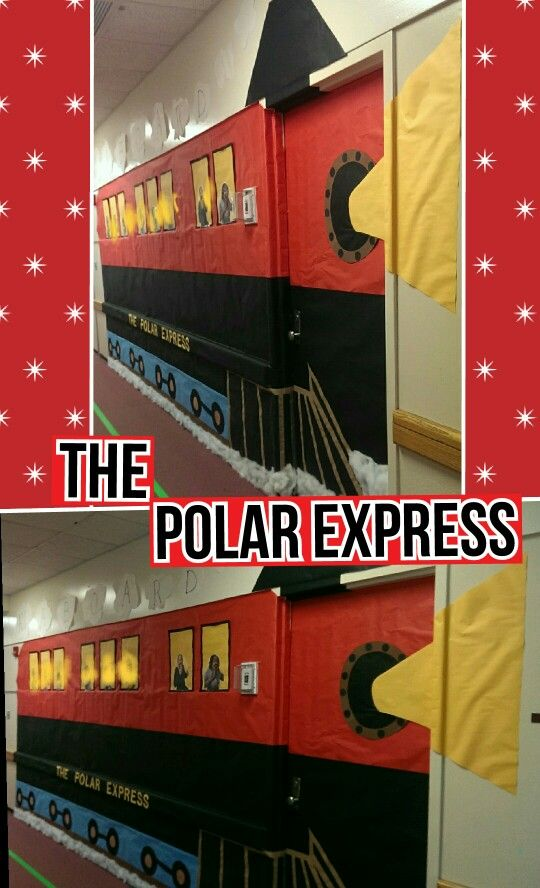 Polar Express Classroom Door Wall Bulletin Boards