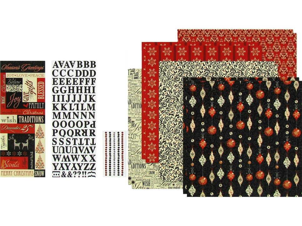 Burlap Flower Girl Basket Hobby Lobby : The paper studio quot christmas magic page kit