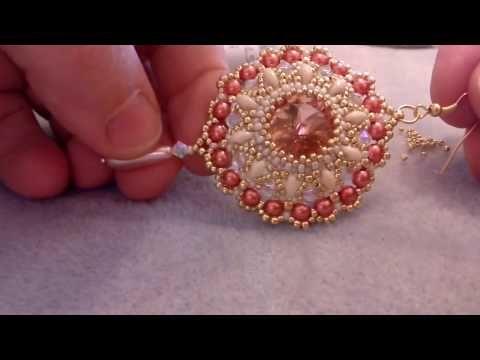 "Modulo ""Queen Elisabeth"" - rivoli 16mm, superduo, bicono 4mm, perle 4mm , rocaille toho e miyuki - YouTube"