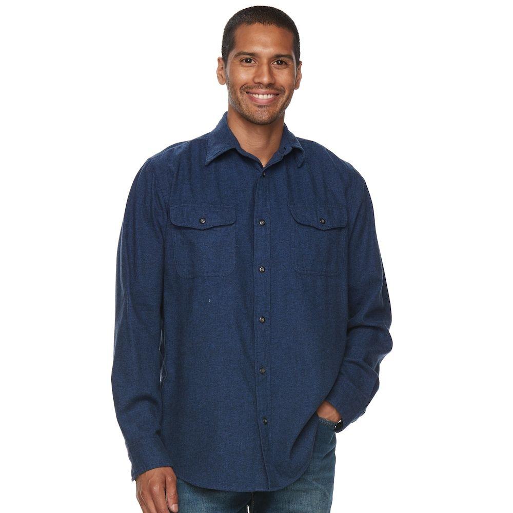 Flannel shirt jeans  Menus SONOMA Goods for Lifeâue Plaid Flannel ButtonDown Shirt Size