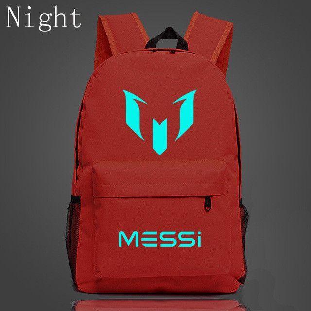 b235e055862c 2017 Lionel Messi Backpack For Teenagers Messi Logo Printing Luminous Backpack  School Shoulders Bags For Children Kids Mochila
