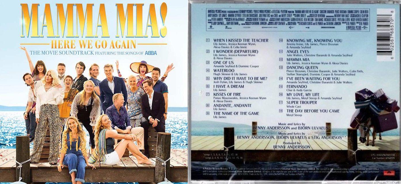 Mamma Mia Here We Go Again Original Motion Picture Soundtrack  Mammamia Herewegoagain Soundtrack Frontcover Merylstreep Backcover
