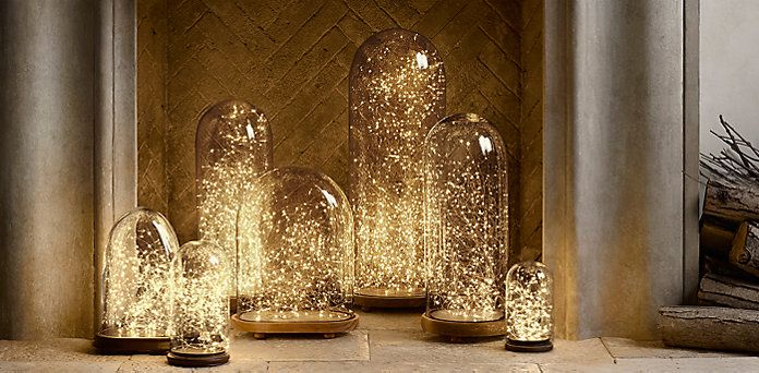 starry string lights amber lights on copper wire firefly lights restoration hardware - Silver Christmas Lights