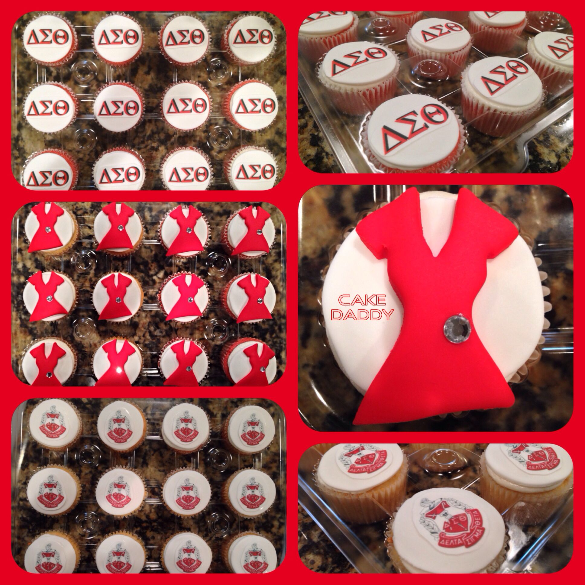 Delta Sigma Theta Birthday Cupcakes!!!