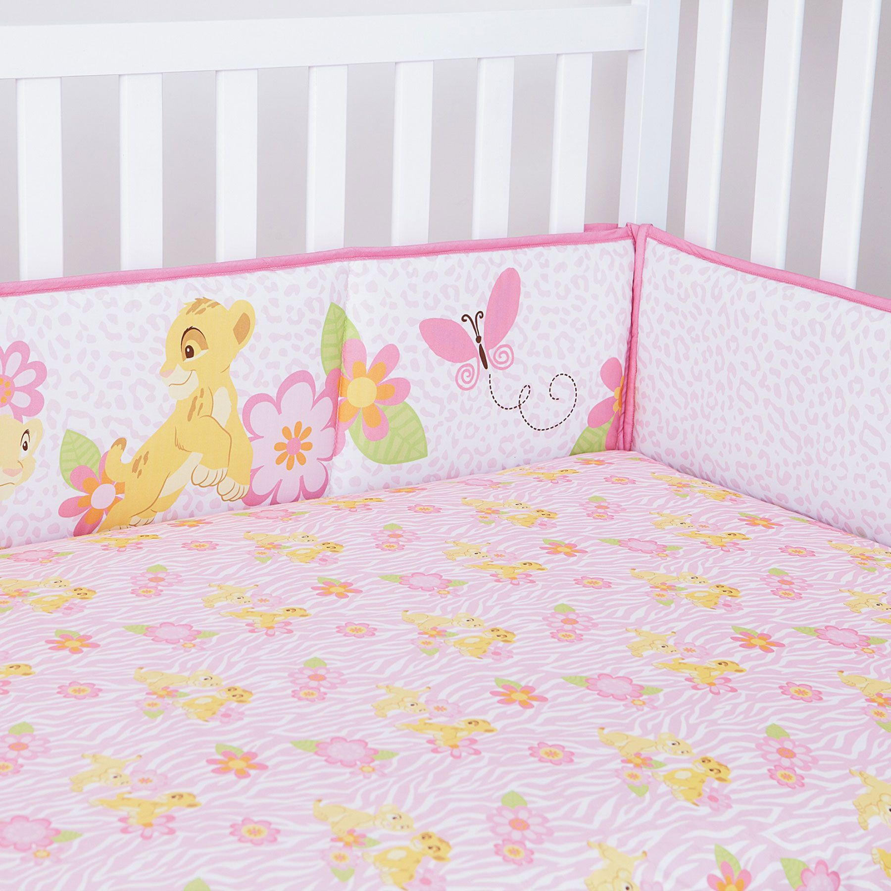 The Lion King Nala S Jungle 4 Piece Secure Me Crib Bumper
