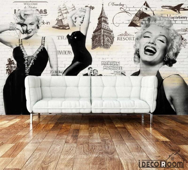 Pink Marilyn Monroe Wall mural in 2020 Marilyn monroe