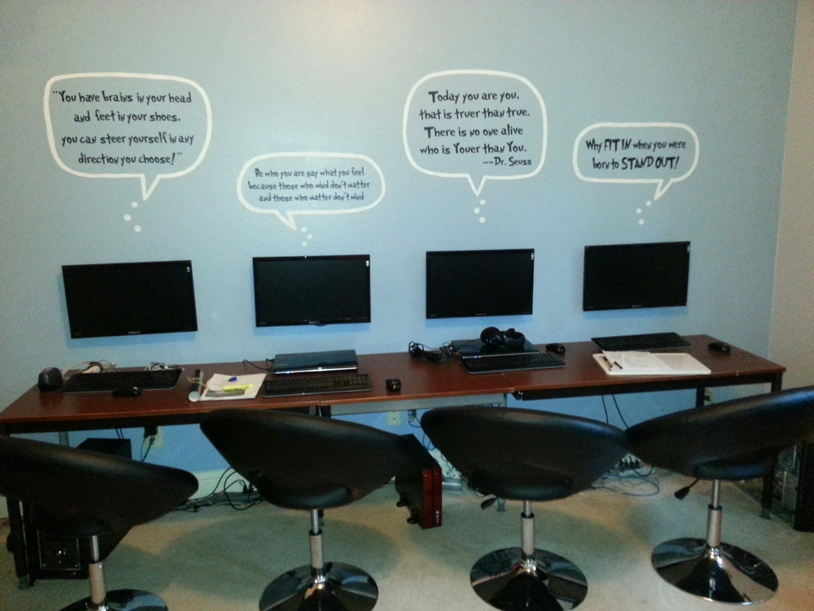 Fun Computer Room Playful Dr Seuss Quotes And Monitors