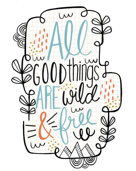 Art Print Henry David Thoreau Quote Hand Lettering
