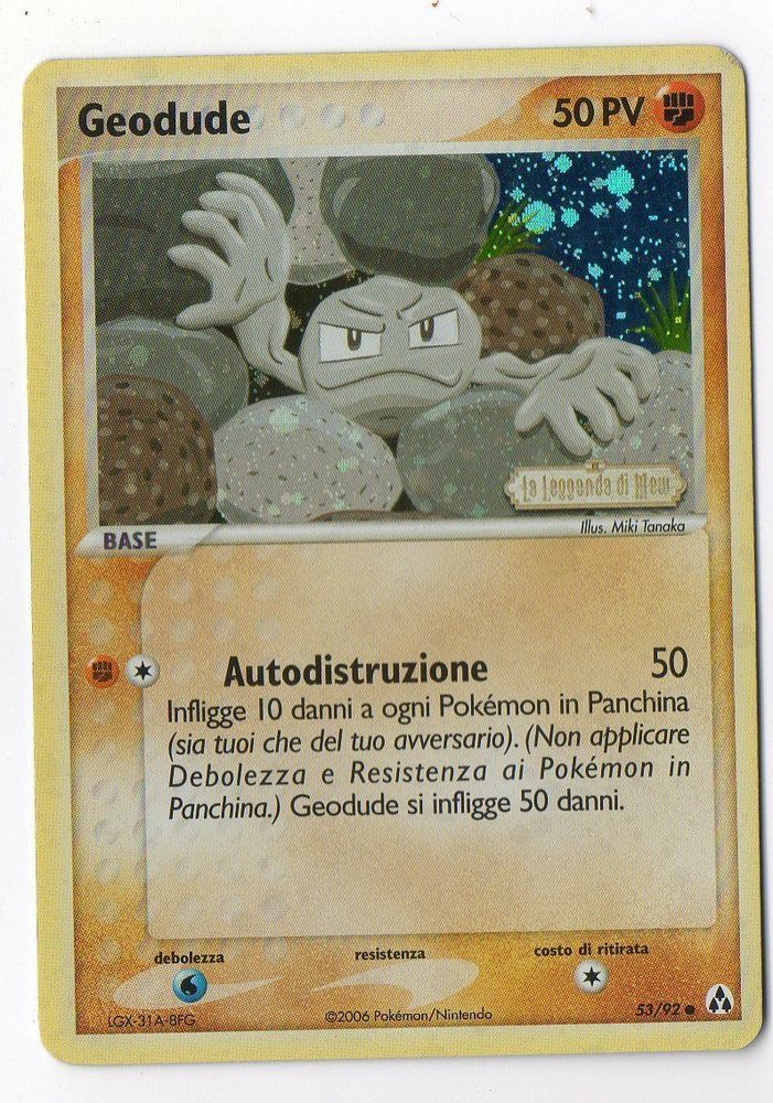 POKEMON GEODUDE 53 92 EX LEGEND MAKER COMUNE HOLO THE REAL DEAL SHOP