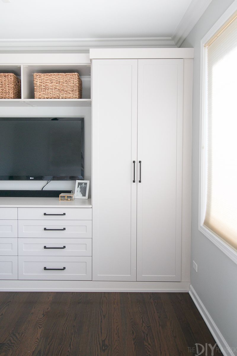 Master Bedroom Built-Ins with Storage   ON THE BLOG ...