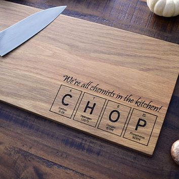 Engraved cutting board periodic table of the elements tiles chop engraved cutting board periodic table of the elements tiles chop science gift for urtaz Images