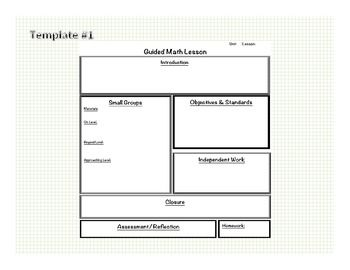 Math Guided Math Blank Templates  Lesson Plan Examples  Lesson