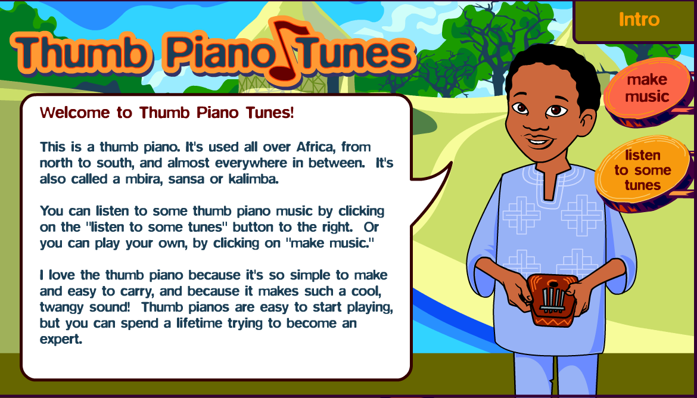 http pbskids org africa piano thumb piano swf music pinterest