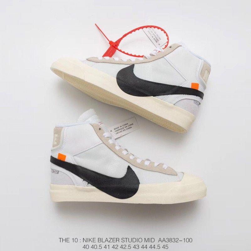 X Nike Blazer Mid Sneakers Distressed