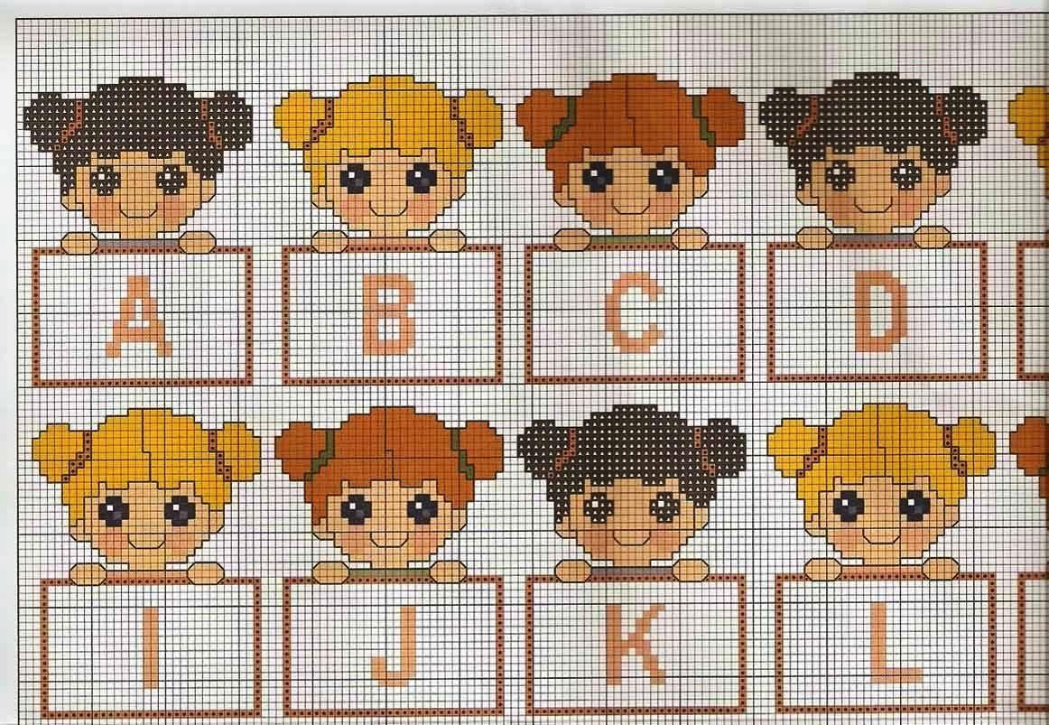 Ecco alcuni alfabeti per e con bambini alfabeto for Alfabeti a punto croce per bambini