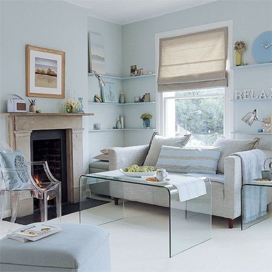 Small Living Room With Pale Blue Painting Ideas  Home Decor And Simple Living Room Design Small Decorating Design