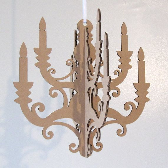Mini chandelier laser cut cardboard diy by seequin on etsy 800 mini chandelier laser cut cardboard diy by seequin on etsy 800 aloadofball Images
