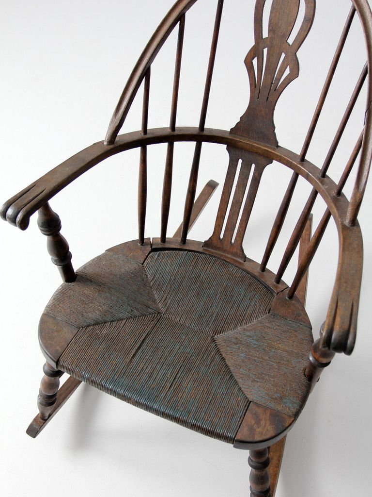 Antique Windsor Rocking Chair With Rush Seat Chairs - Antique Windsor Rocking Chair - Best 2000+ Antique Decor Ideas