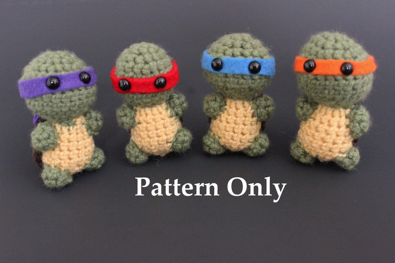Teenage Mutant Ninja Turtles Crochet Pattern - pinned by pin4etsy ...