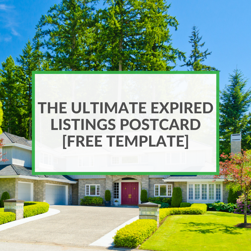 Newspaper Apartment Listings: The Ultimate Expired Listing Postcard [FREE TEMPLATE
