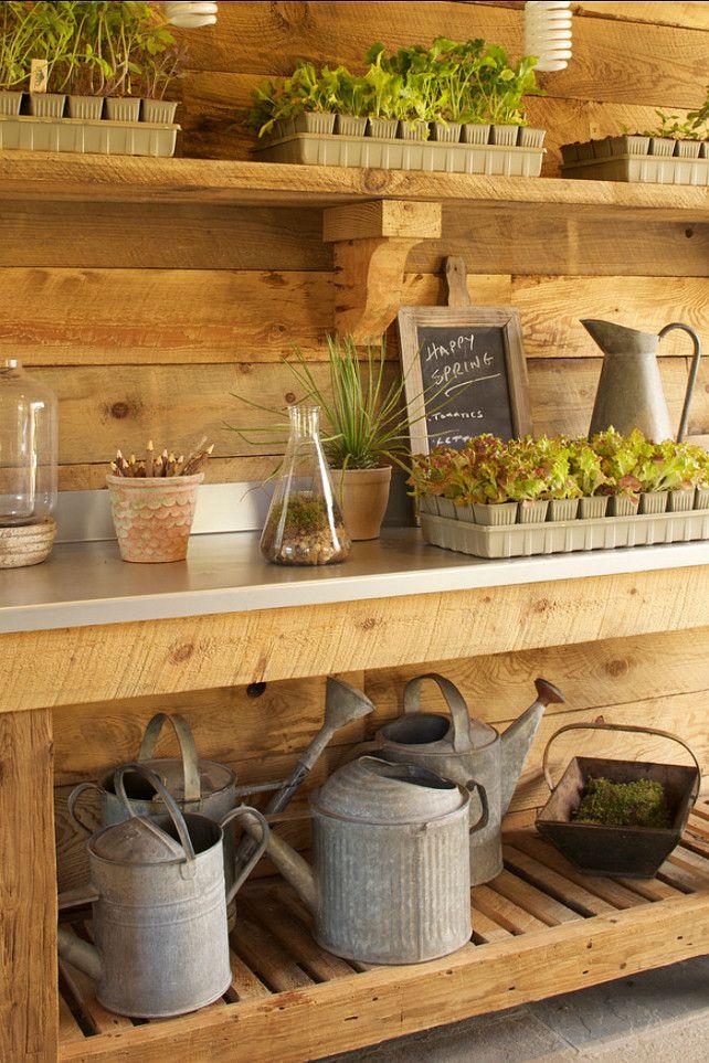 Gardening gardens backyard and business for Garden shed interior designs