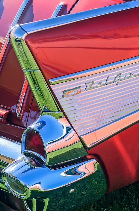 1957 Chevrolet Bel Air Tail Light Emblem by Jill Reger