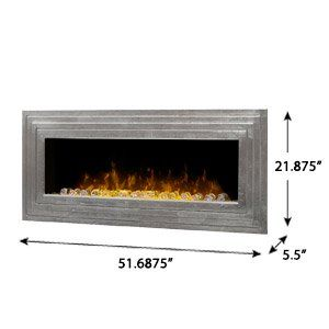 Dimplex Ashmead Antique Silver Linear Wall Mount Electric Fireplace - DWF42AG-1450SR