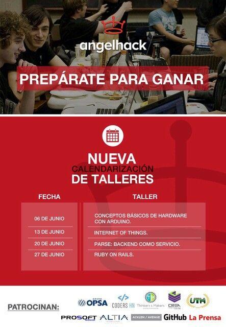 Taller GRATUITO sobre Internet Of Things, hoy sábado 13 de Junio en salón Armenta a las 2:00 pm previo al #AngelHack que se llevará a cabo el 4 de Julio en #UTH #Honduras  Facebook: https://www.facebook.com/AngelHackSPS?fref=ts Inscripción a los diferentes talleres: http://www.eventbrite.com/o/thinkers-amp-makers-7753617033