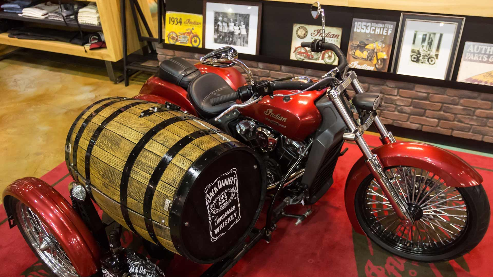 Jack Daniels BBQ Custom Scout Indian scout, Motorcycle