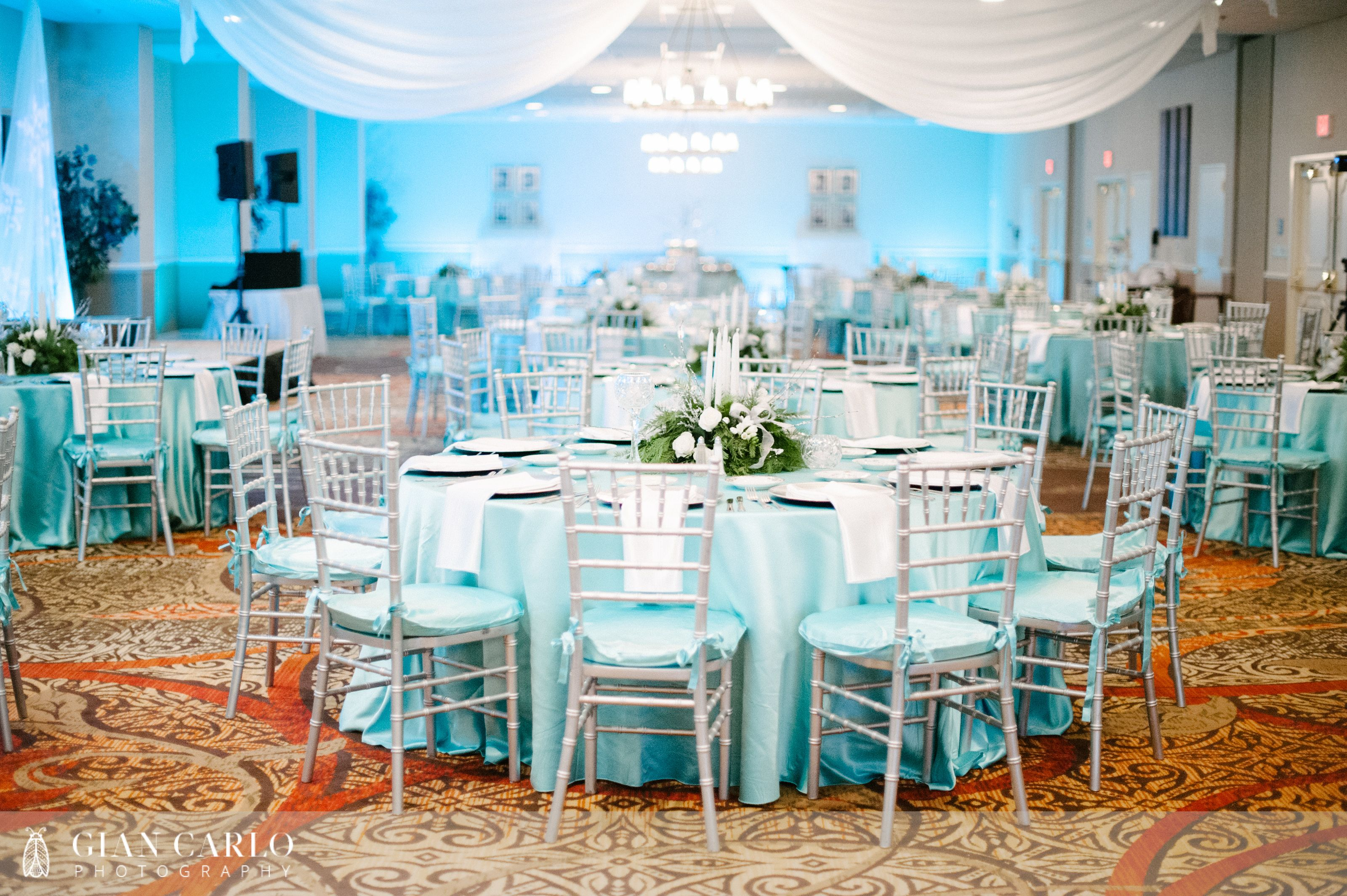 Embassy Suites Altamonte Springs Wedding with Tiffany blue Teal ...
