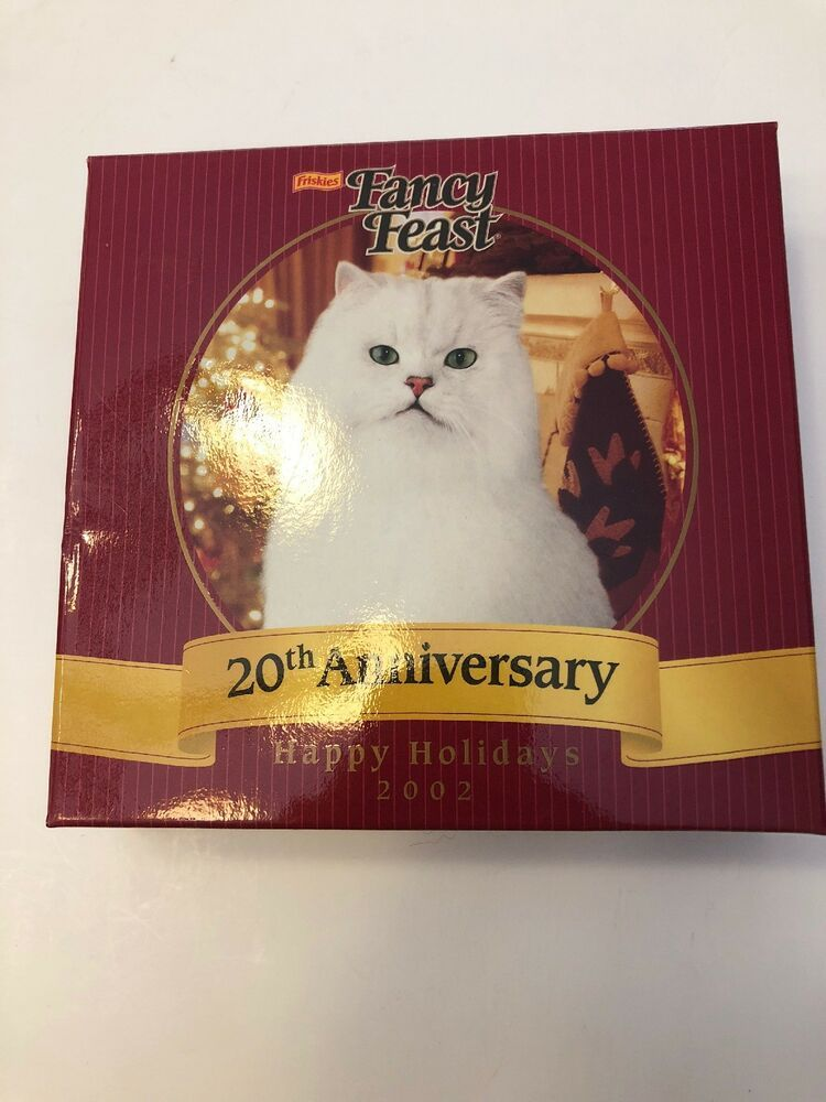 Fancy Feast Christmas Ornament 2019 20th Anniversary FANCY FEAST PURINA Cat CHRISTMAS ORNAMENT 2002