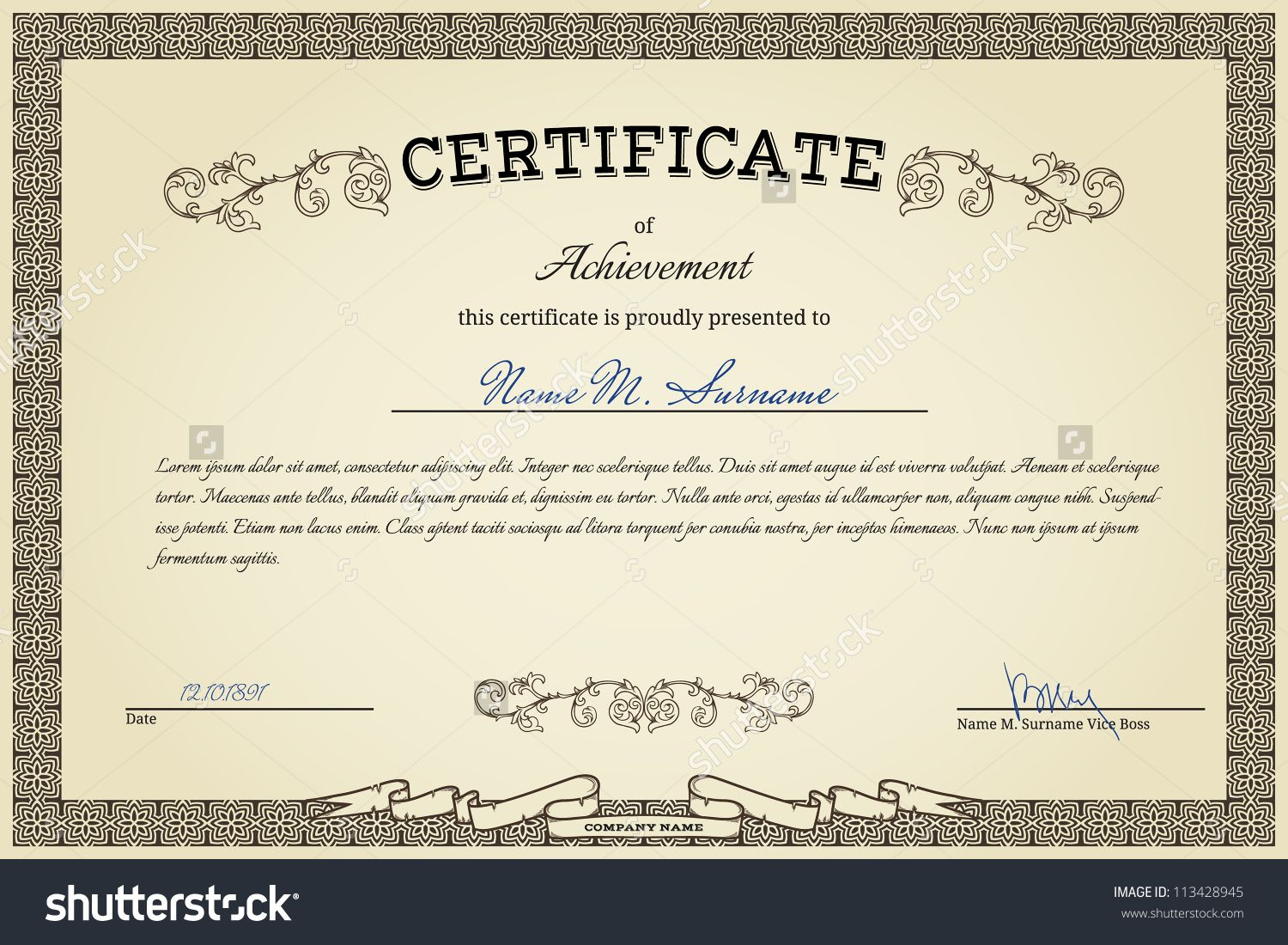 Vintage certificate on gradient beige background certificate vintage certificate on gradient beige background 1betcityfo Image collections