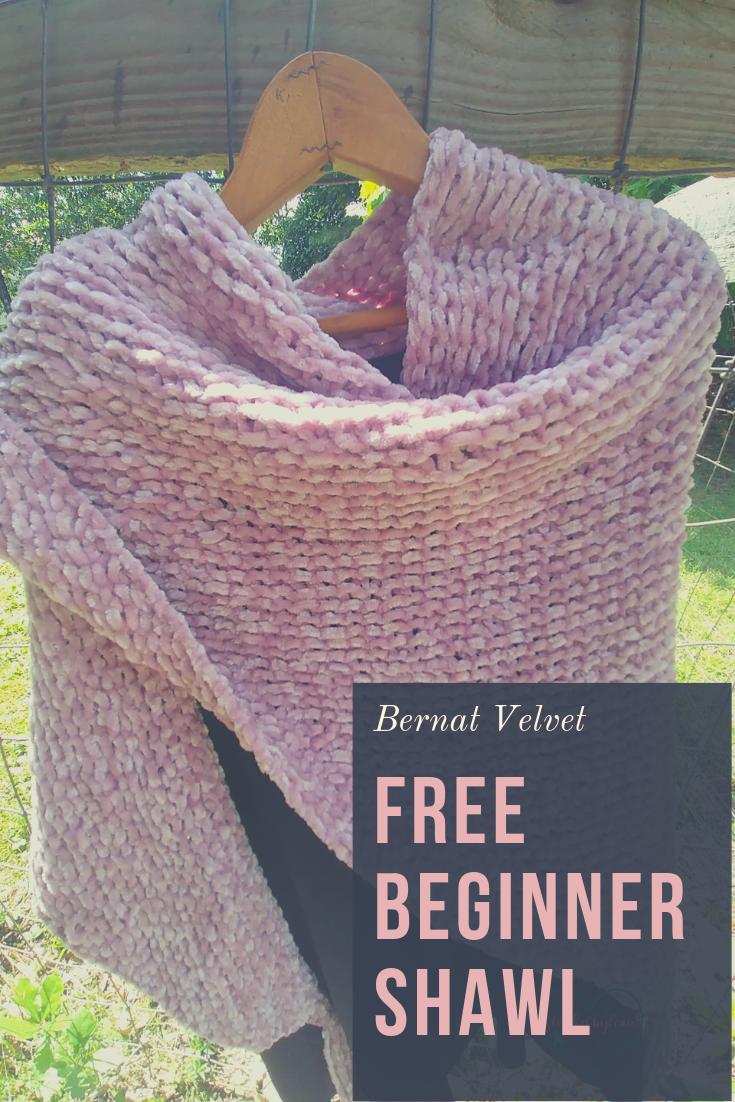 Patrón de tejer fácil para principiantes gratis para chal de terciopelo: ¡el chal más suave de todos los tiempos!