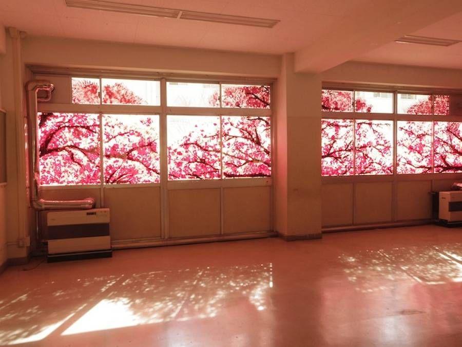 Beautiful Cherry Blossom Murals Made with Hand Prints – Fubiz Media