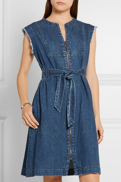 SEA - Frayed denim dress