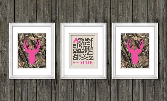 S Nursery Decor Pink Camo By Customedgestudio