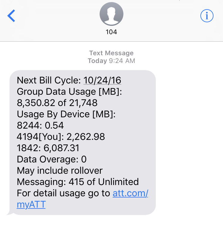 Check Your Bill with AT&T Star Services Text messages
