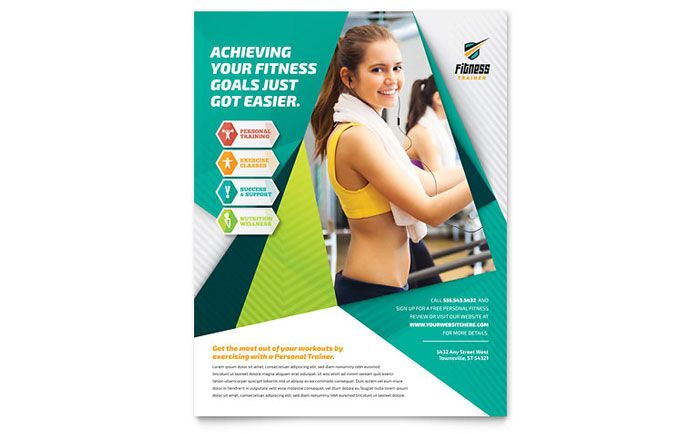 Fitness Trainer Flyer Template Design by StockLayouts Bodycare - fitness flyer