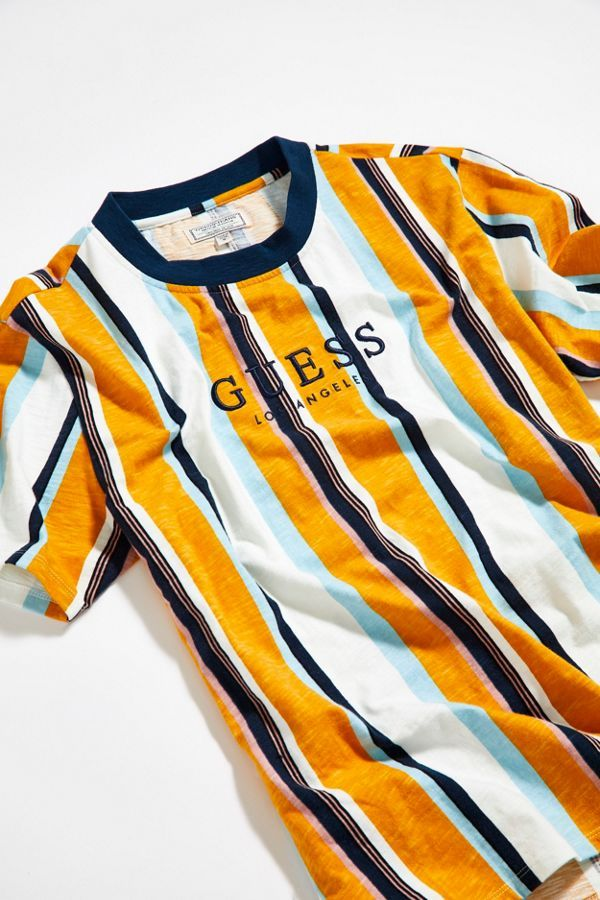 100% top quality amazing selection on sale GUESS Sayer Striped Tee   Outfits in 2019   Striped tee ...