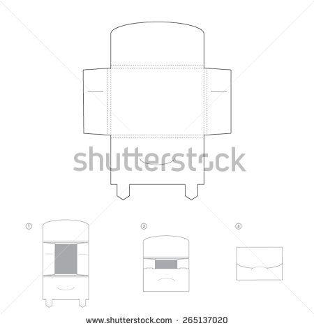 Envelope Template Design  Stock Vector  Silhouette Cameo